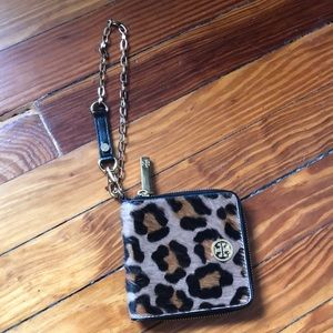 Leopard Calf Hair Tory Burch Wallet